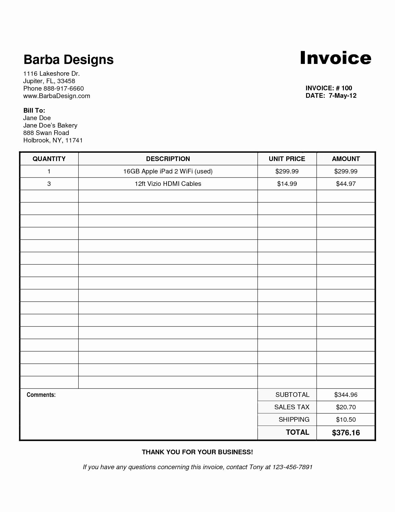 Free Uk Invoice Template Word Invoice Template Ideas