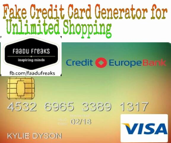 Free Unlimited Amazon Shopping Through Fake Credit Cards