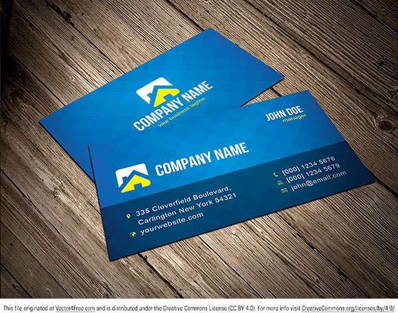 Free Vector Business Card Template Free Vector In Adobe