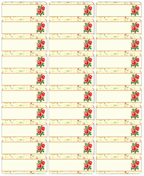 Free Vintage Rose Label Printables by Rachel Birdsell
