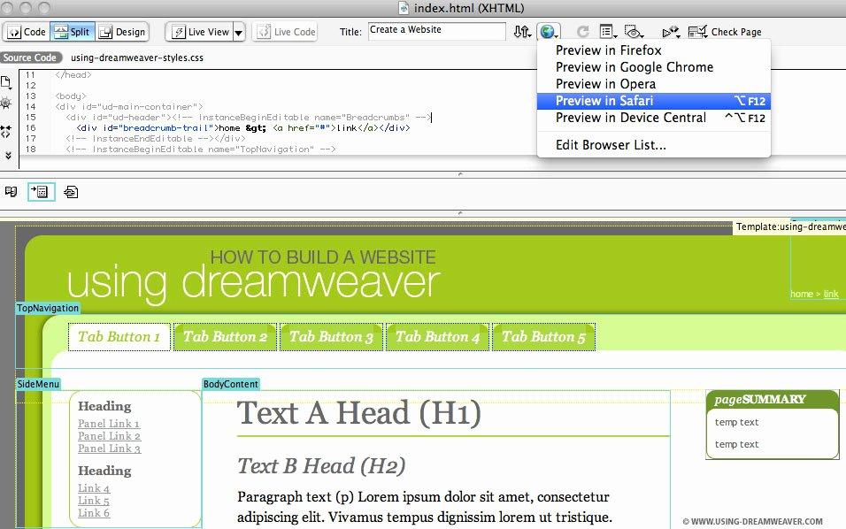 Free Web Templates Dreamweaver Cs4 Hopeprogs