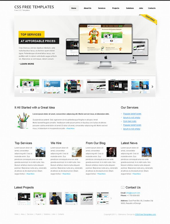 Free Website Css Template for Personal Portfolio Website