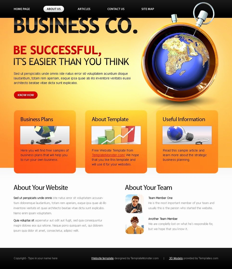 Free Website Template Business Pany