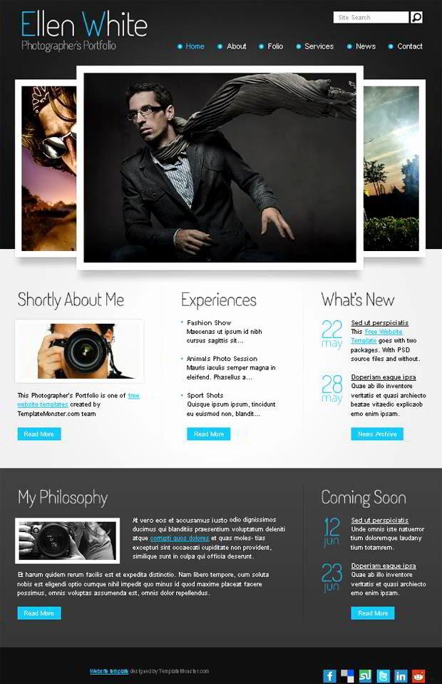 Free Website Template Start Grapher S Portfolio