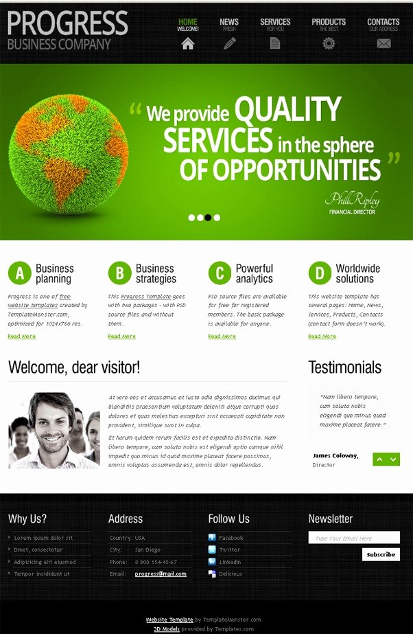 Free Website Template with Slider and Expressive