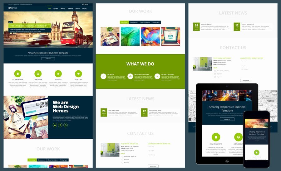 Free Website Templates for Microsoft Expression Web 4