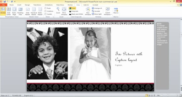 Free Wedding Album Template for Powerpoint 2013