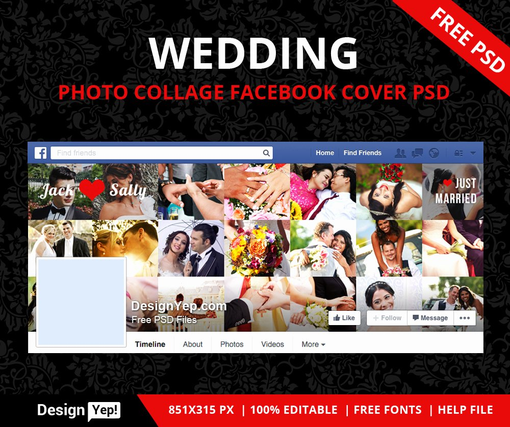 Free Wedding Collage Timeline Psd Designyep