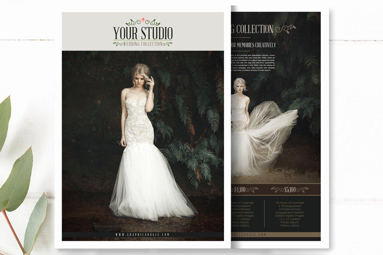Free Wedding Graphy Price List Flyer Templates