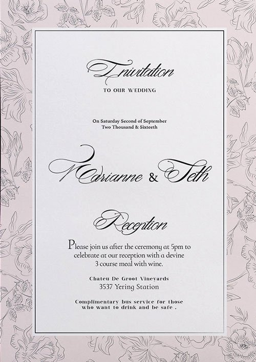 Free Wedding Invitation Flyer Template Download for