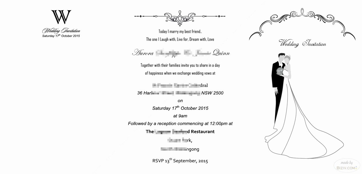 Free Wedding Invitation Templates Biziv Promotional Products