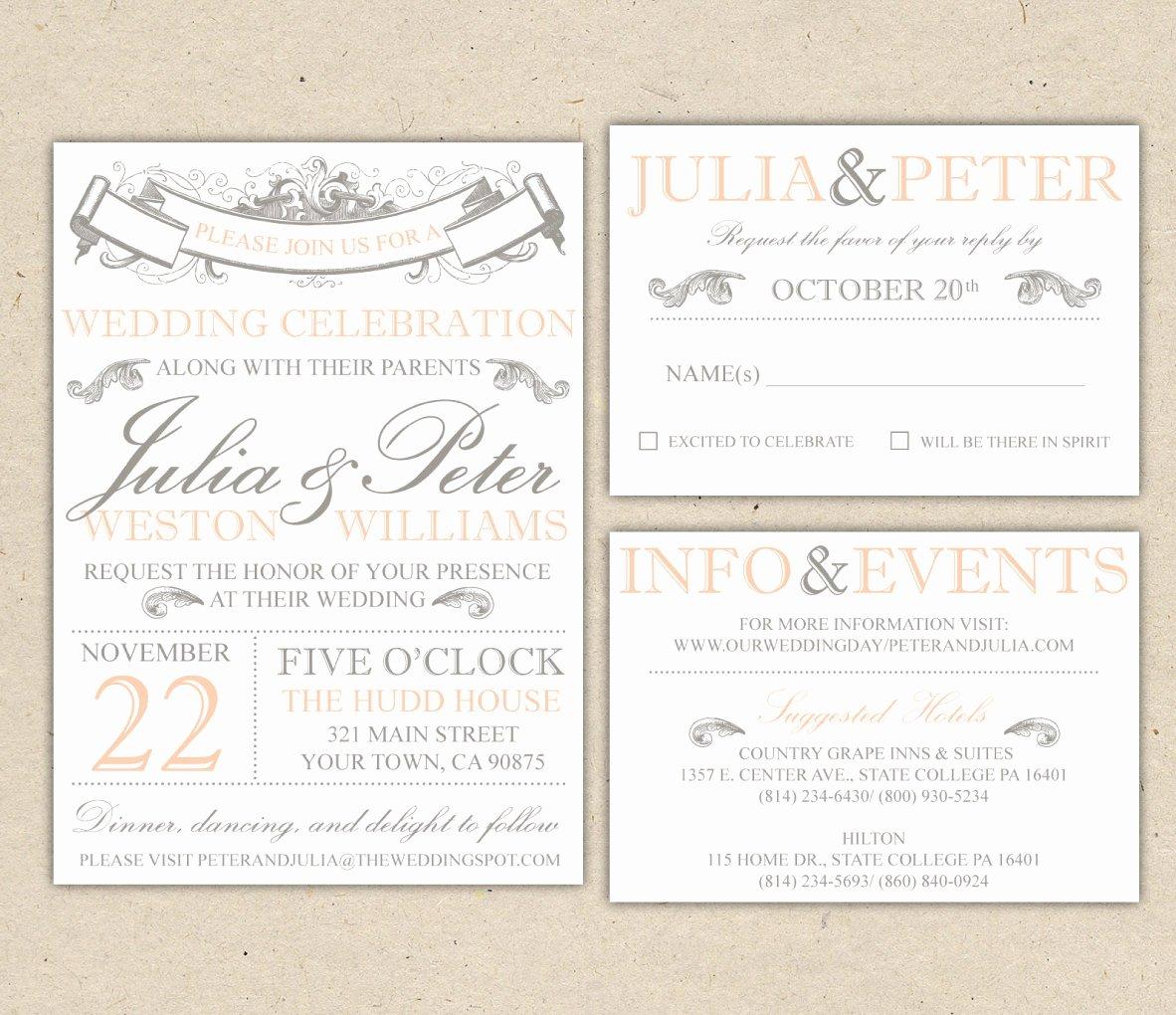 Free Wedding Invite Templates