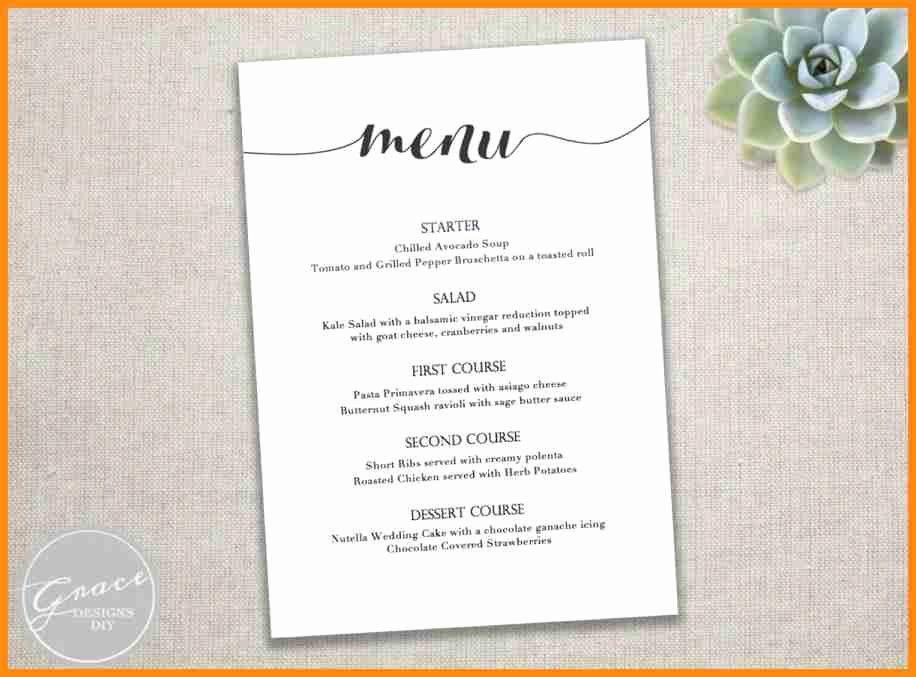 Free Wedding Menu Templates for Microsoft Word 8 Free Menu