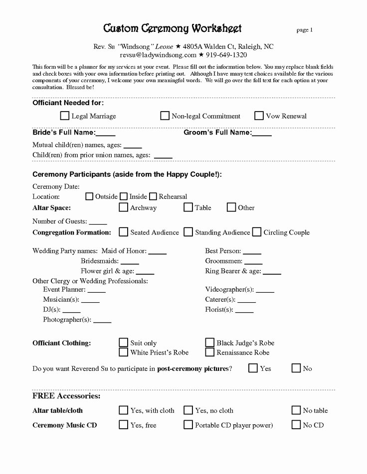 Free Wedding Planner Contract Template