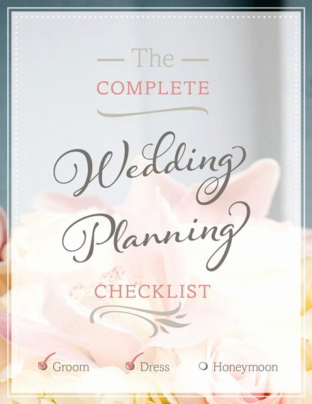 Free Wedding Planning Checklist Pdf Print or Download