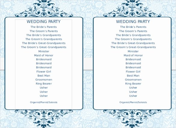Free Wedding Program Template Downloads Word Invitation