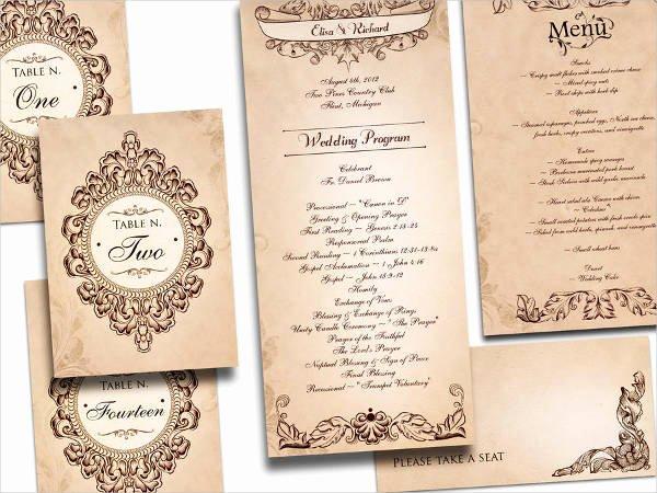 Free Wedding Program Templates 9 Free Psd Vector Ai