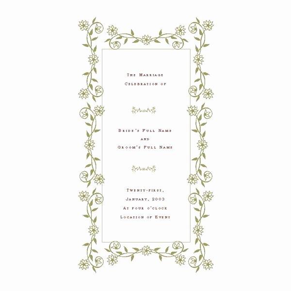 Free Wedding Program Templates De Stress Your Wedding