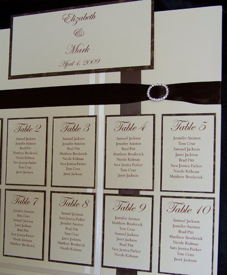 Free Wedding Seating Chart