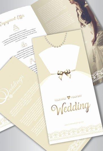 Free Wedding Tri Fold Psd Brochure Template – by Elegantflyer