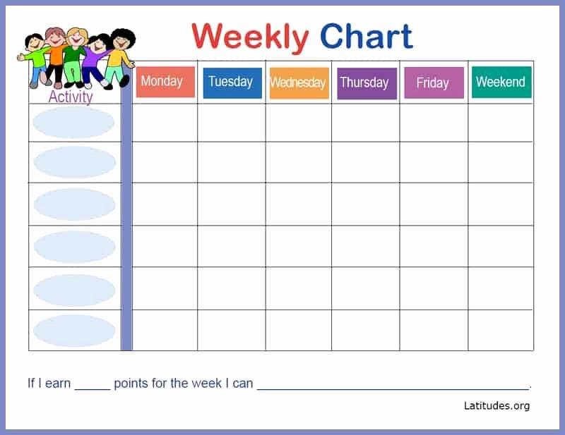 Free Weekly Behavior Chart Happy Kids