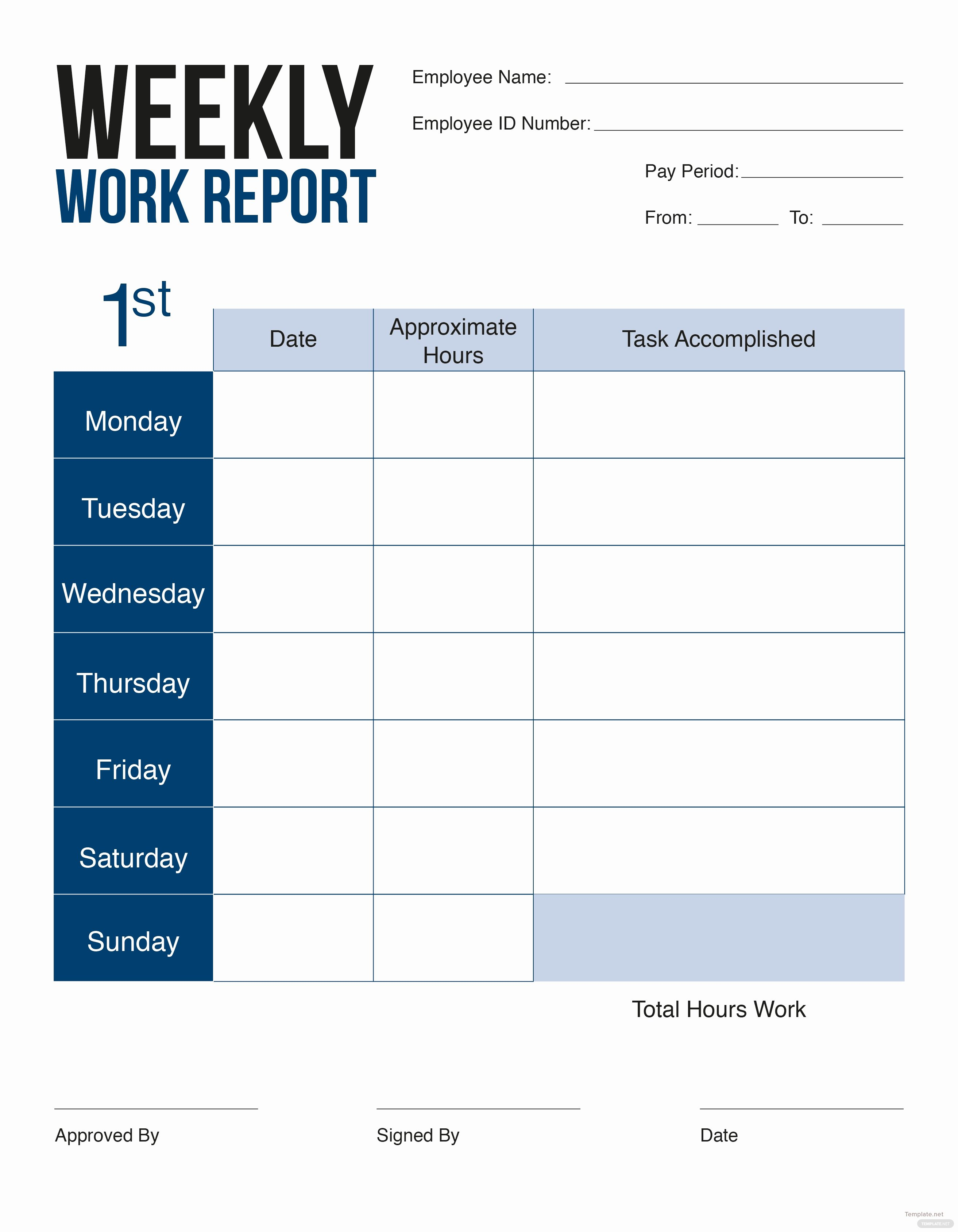 Free Weekly Report Card Template In Adobe Shop Adobe