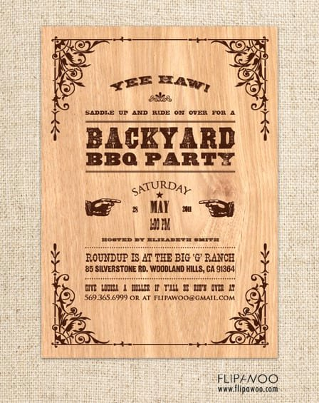 Free Western Invitation Template