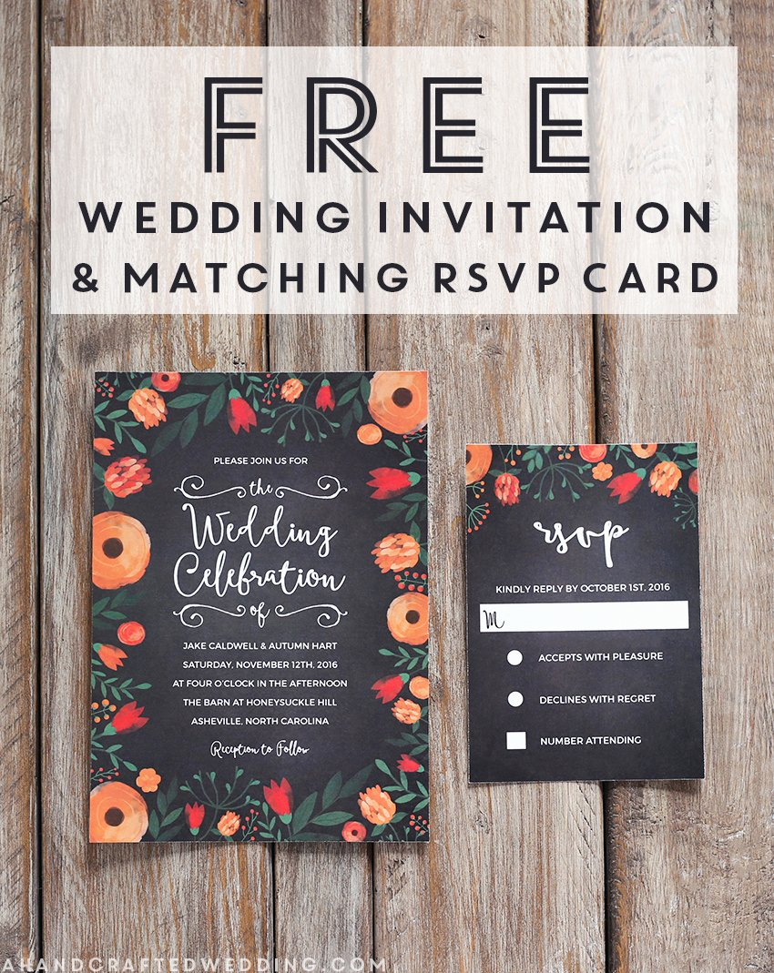 Free Whimsical Wedding Invitation Template