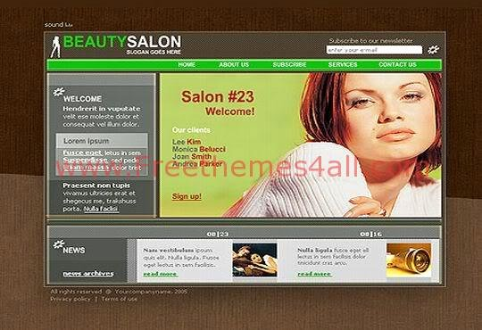 Free Y Beauty Salon Flash Template Download