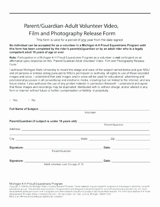 Free Yoga Waiver Template Model Release form Canada