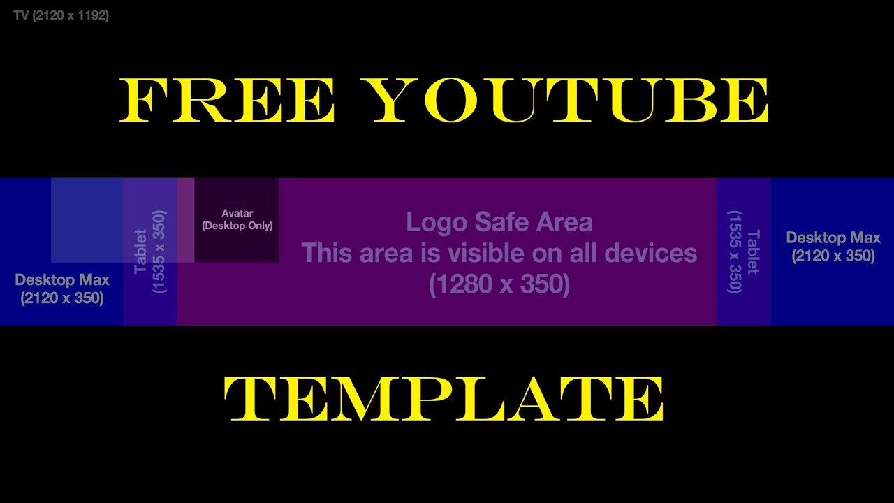 Free Youtube Channel Art Template