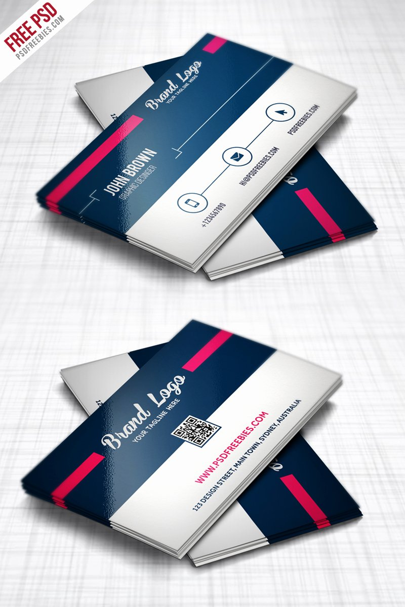 Freebie Modern Business Card Design Template Free Psd
