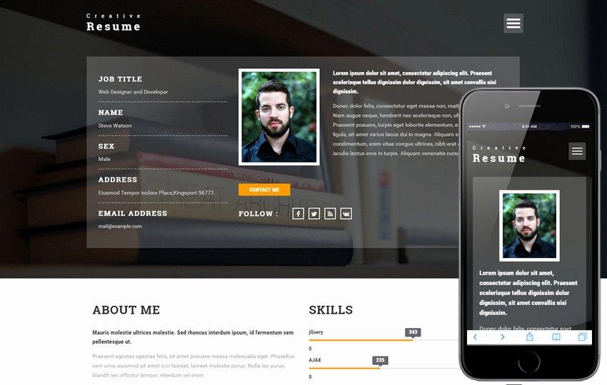 Freelance A Epage Portfolio Flat Bootstrap Responsive
