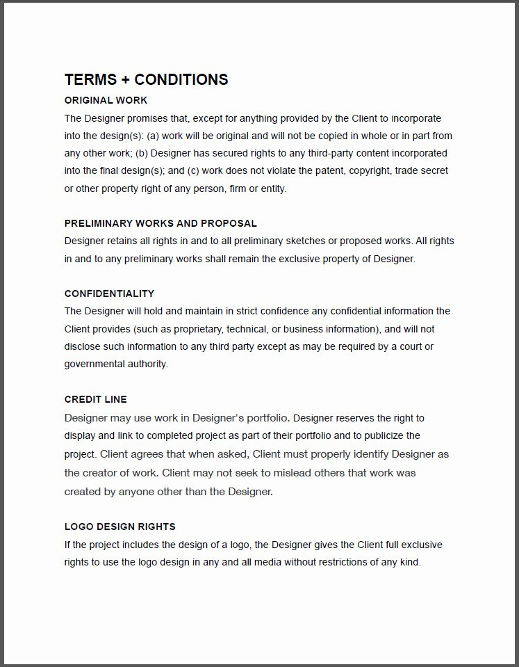 Freelance Graphic Design Contract Template Pdf 738 Ocweb