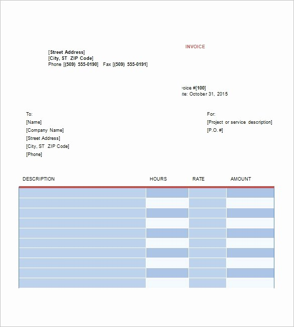 Freelance Graphic Design Invoice Template