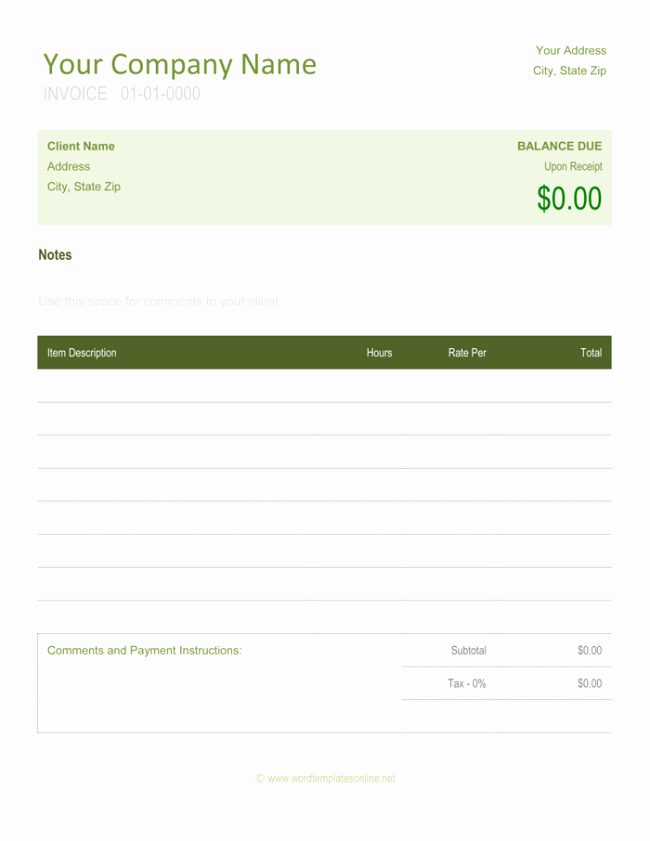 Freelance Invoice Templates 5 Best Free Samples for Word