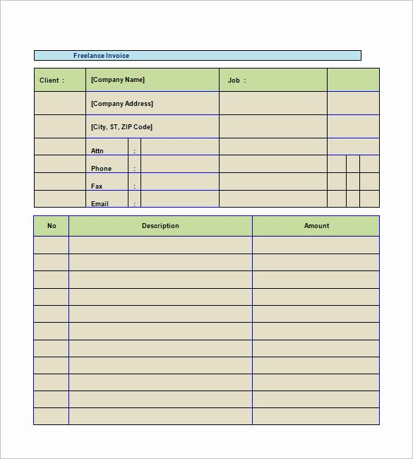 Freelancer Invoice Template 13 Free Word Excel Pdf