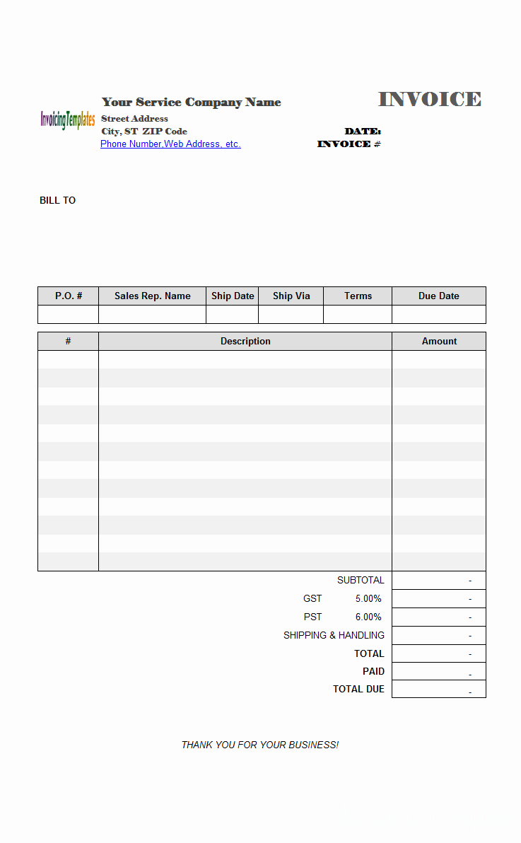 Freeware Download Adobe Acrobat Invoice Template
