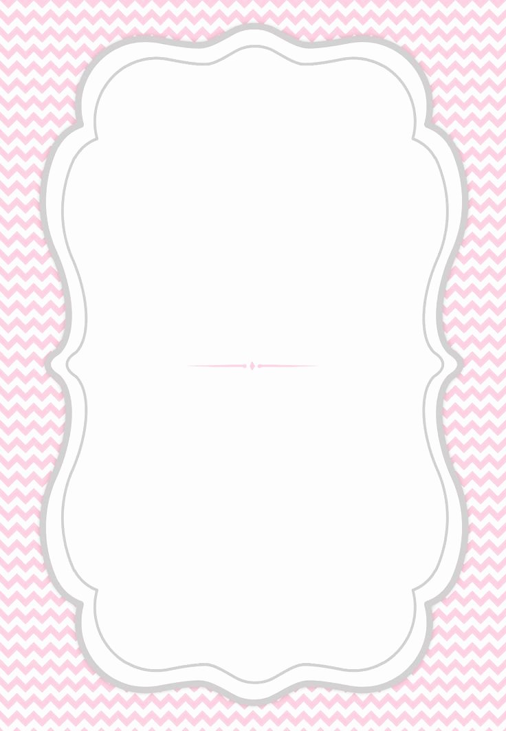 French Curve Frame Free Printable Party Invitation