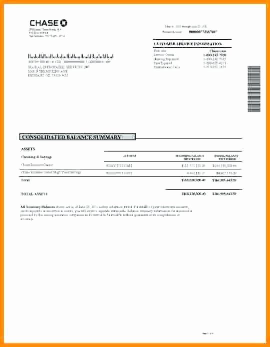Fresh Chase Bank Statement Line Template 27 Fake Chase