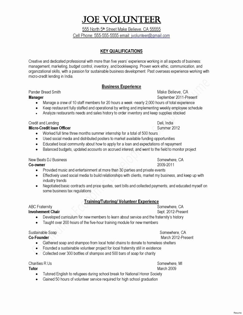 Fresh Core Qualifications Examples for Resume