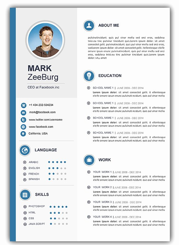 Fresh Download Cv Template Word