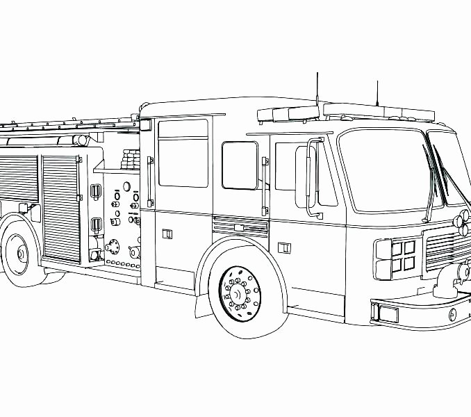 Fresh Free Fire Truck Coloring Pages Printable for Fire