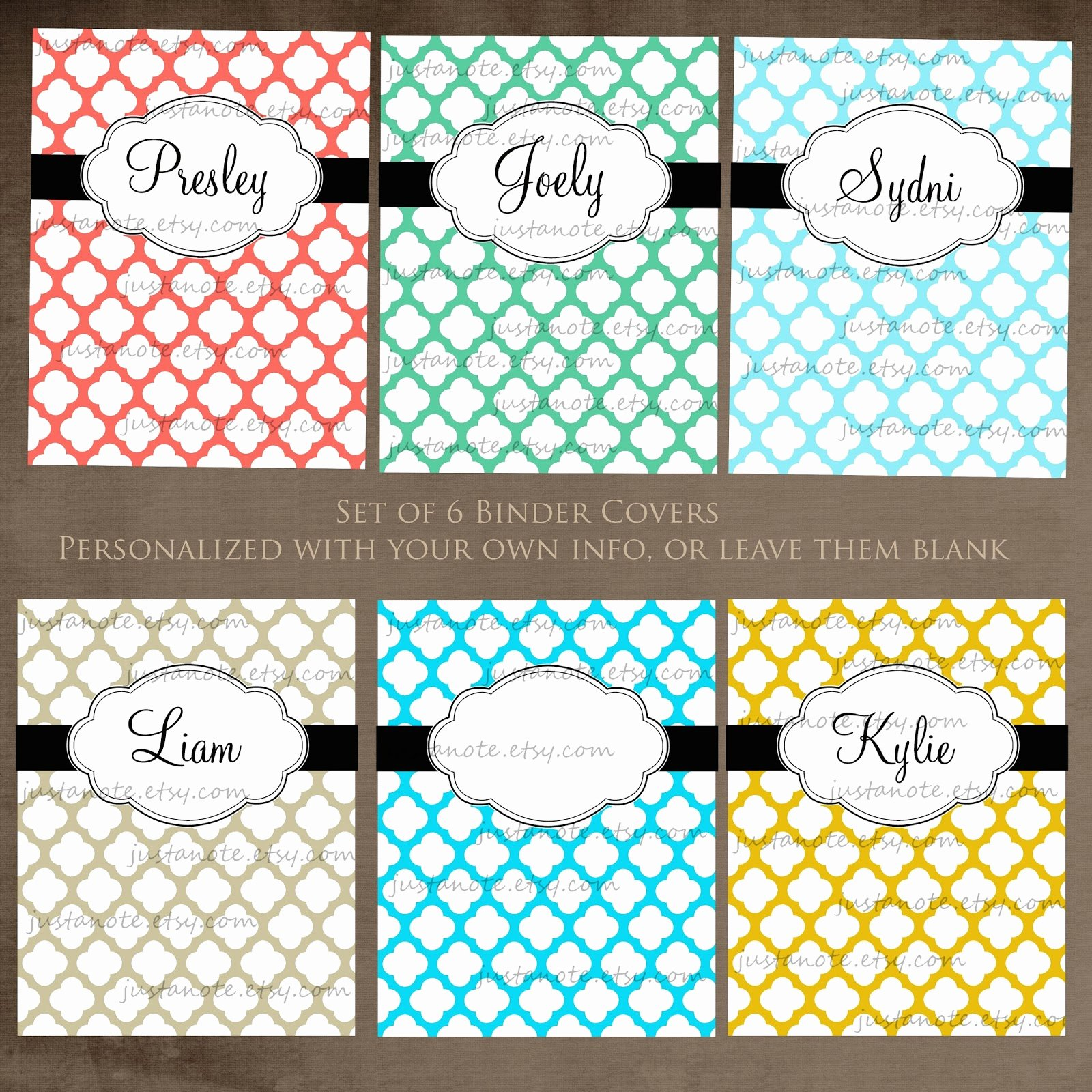 Fresh Free Printable Binder Cover Templates