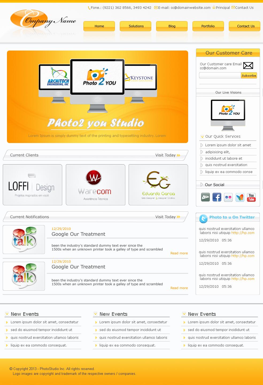 Fresh Free Psd Website Templates Freebies