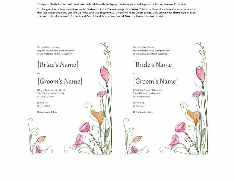 Fresh Wedding Shower Invitation Templates for Microsoft