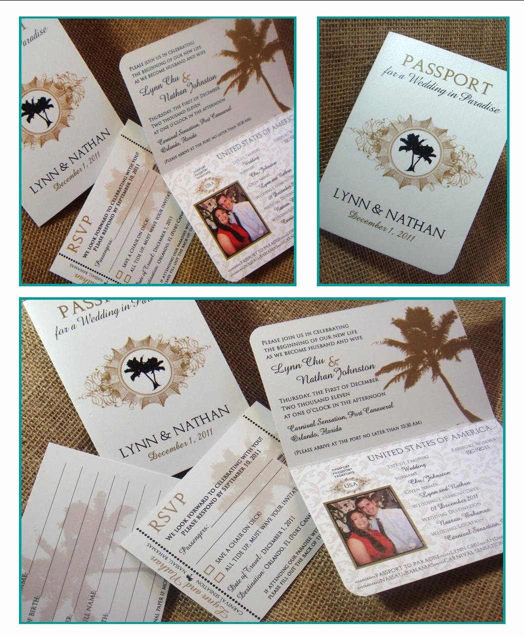From Me 2 You Creations Chu Wedding Passport Invitations