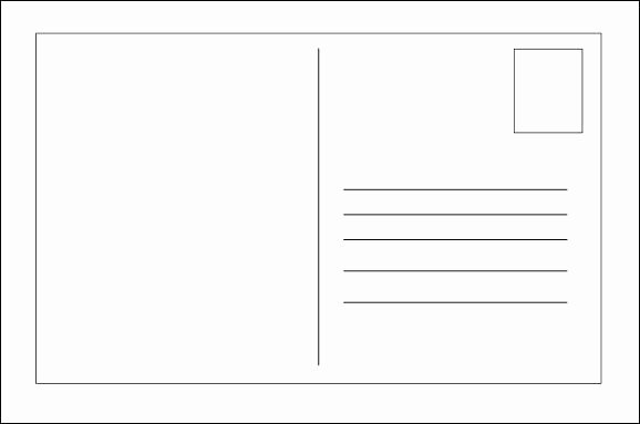 Front and Back Postcard Template Blank Postcards for