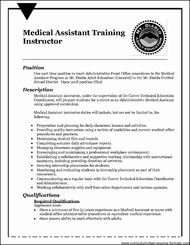 Front Fice Medical assistant Resume Sample Free