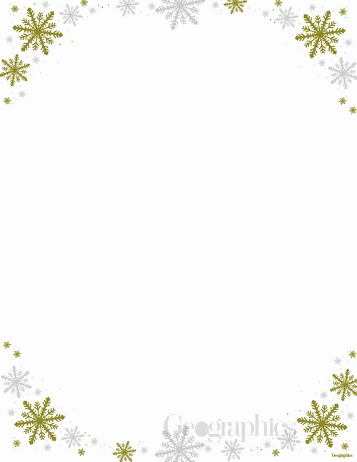 Frost Christmas Letterhead Gold and Silver Foil
